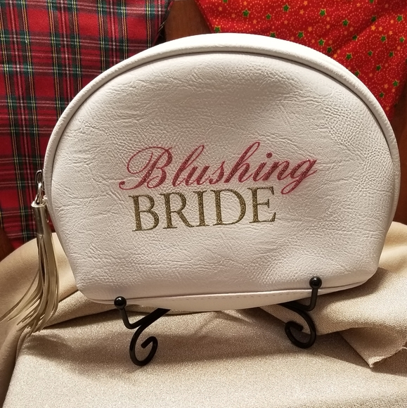 Handbags - Blushing Bride Zipped w/tassel Cosmetic Bag